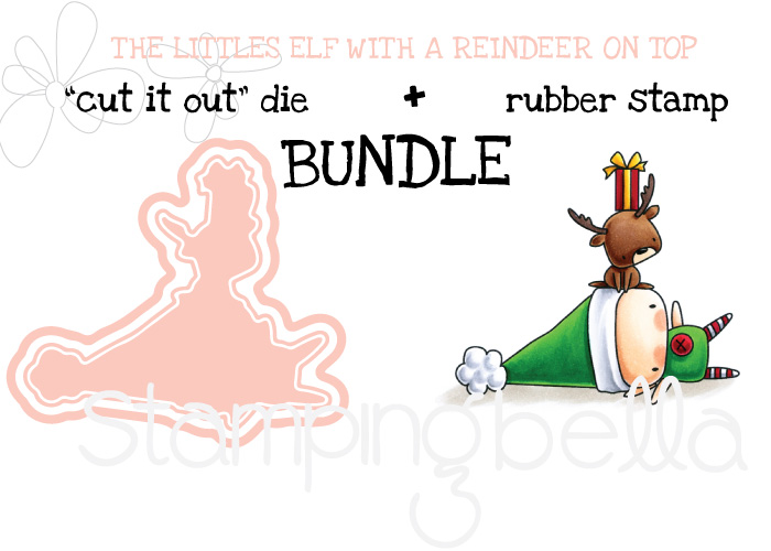 www.stampingbella.com : BUNDLE called THE LITTLES ELF with a REINDEER on TOP