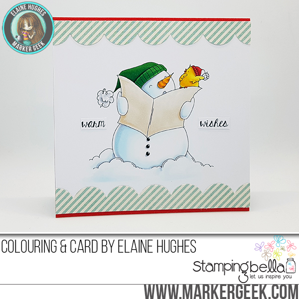 www.stampingbella.com: RUBBER STAMP FEATURED: FALALA and HOLIDAY SENTIMENT SET card by Elaine Hughes