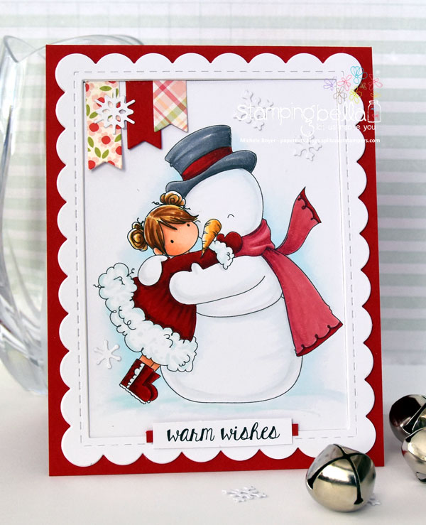 Stamping Bella RUBBER STAMPS: Stamps used: TINY TOWNIE FRIDA loves FROSTY. Card by Michele Boyer