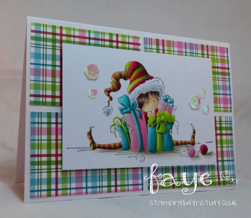 www.stampingbella.com- RUBBER STAMPS used:TINY TOWNIE JENNY is JOYFUL, card made by FAYE WYNN JONES