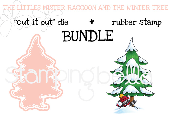 Stamping bella BUNDLE LITTLES MISTER RACCOON and the WINTER TREE