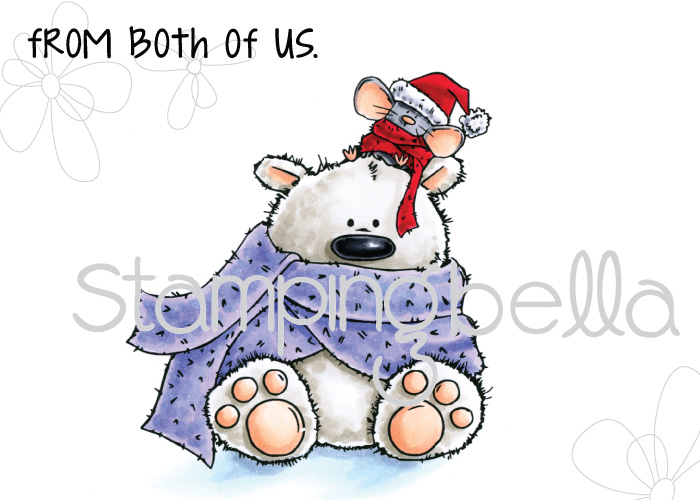 Stamping Bella WINTER/CHRISTMAS 2017 RELEASE: RUBBER STAMP POLAR BEAR AND MOUSIE