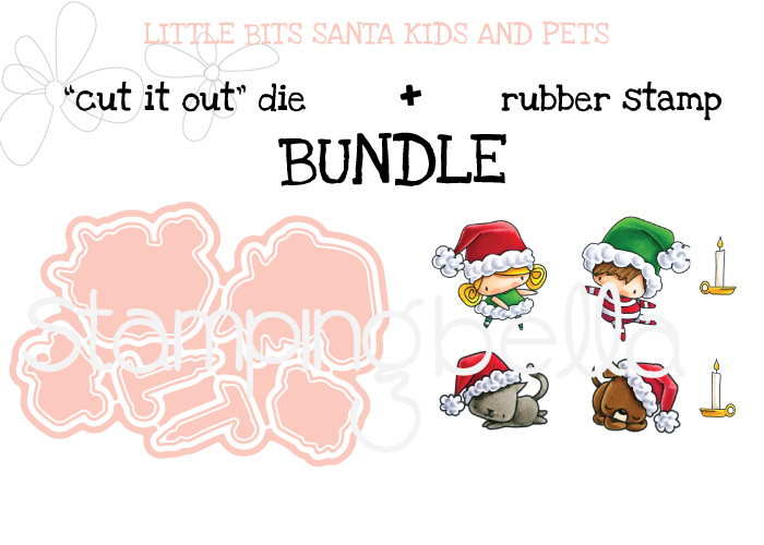 STAMPING BELLA BUNDLE: LITTLE BITS SANTA KIDS AND PETS