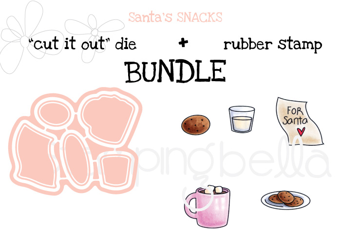 STAMPING BELLA BUNDLE: LITTLE BITS SANTA'S SNACKS