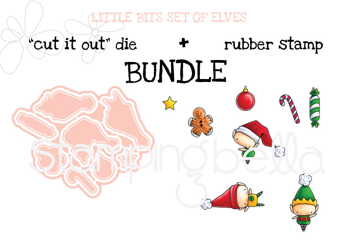 www.stampingbella.com :BUNDLE FEATURED: LITTLE BITS SET OF ELVES