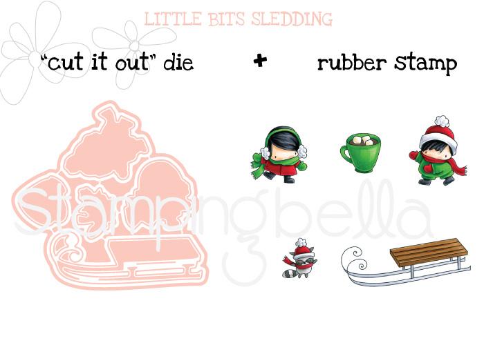 Stamping Bella BUNDLE: Little Bits SLEDDING SET