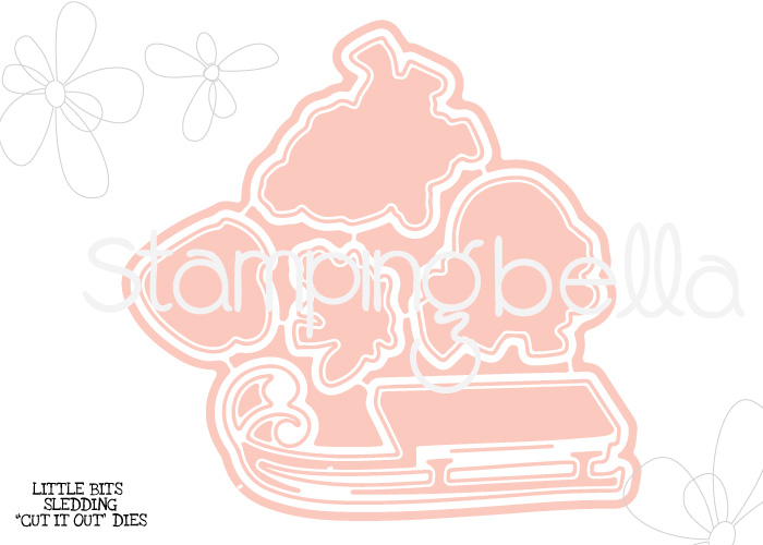 "Stamping Bella ""CUT IT OUT"" DIE : Little Bits SLEDDING SET"