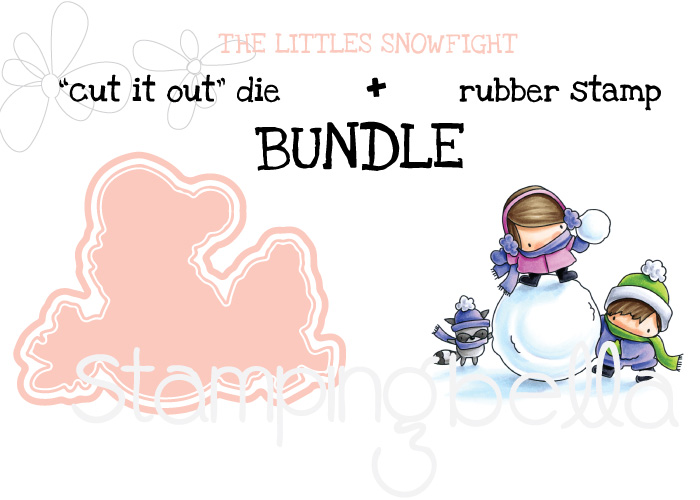 www.stampingbella.com : BUNDLE called THE LITTLES snowfight