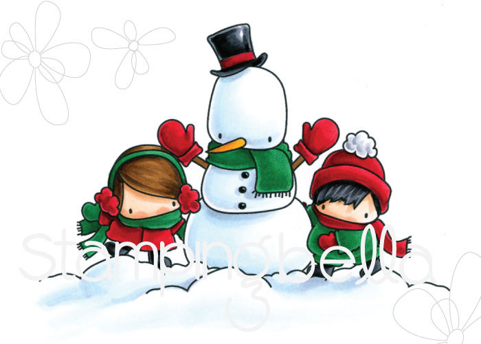 www.stampingbella.com: RUBBER STAMP FEATURED: THE LITTLES SNOWMAN LOVE