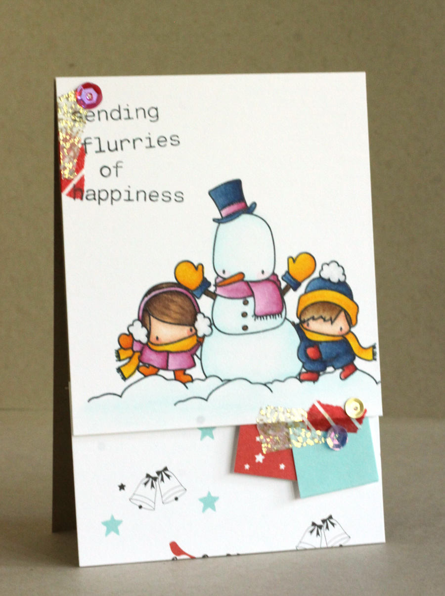 www.stampingbella.com: RUBBER STAMP FEATURED: THE LITTLES SNOWMAN LOVE CARD BY ALICE WERTZ