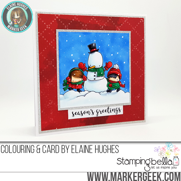 www.stampingbella.com: RUBBER STAMP FEATURED: THE LITTLES SNOWMAN LOVE CARD BY Elaine hughes