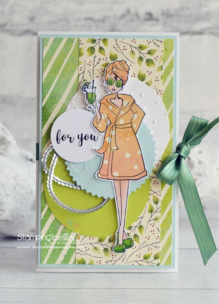 www.stampingbella.com: rubber stamp used: SPABELLA, card made by Inge GROOT