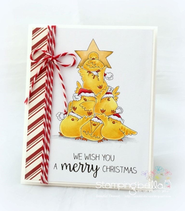 Stamping Bella RUBBER STAMPS: Stamps used: THE CHICK TREE. Card by Sandie Dunne