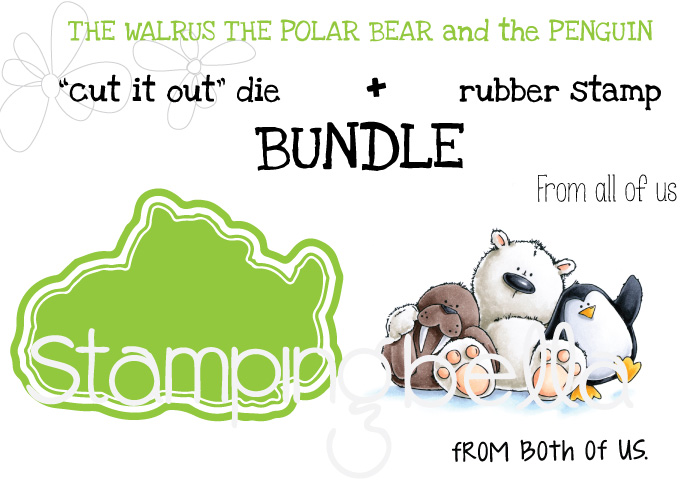 STAMPING BELLA BUNDLE: The WALRUS the POLAR BEAR and the PENGUIN STUFFIES