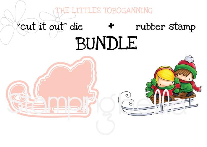 Stamping Bella BUNDLE: THE LITTLES TOBOGGANING