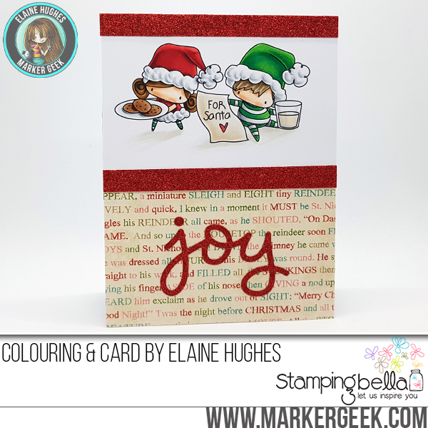 STAMPING BELLA HOLIDAY 2017 RELEASE: RUBBER STAMPS USED: THE LITTLES WAITING FOR SANTA CARD BY Elaine Hughes