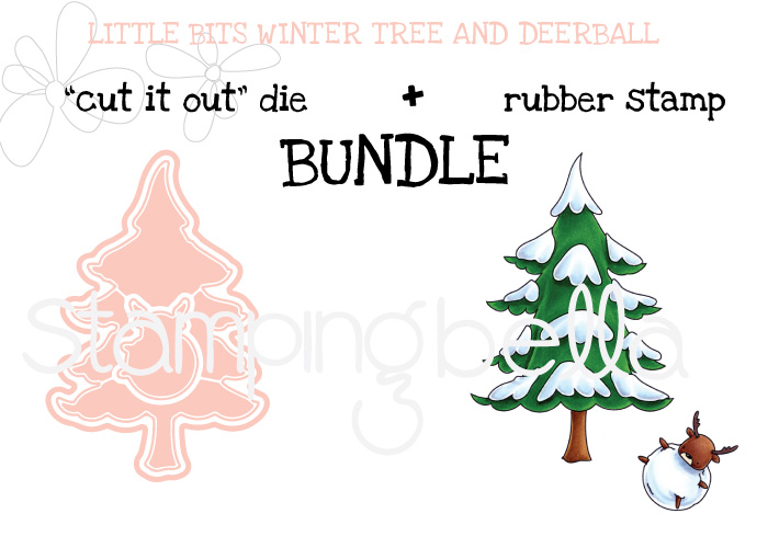 Stamping bella BUNDLE : LITTLE BITS WINTER TREE and DEERBALL