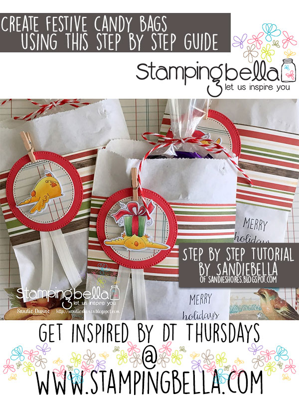 Stamping Bella DT Thursday Create Festive Candy Bags with Sandiebella
