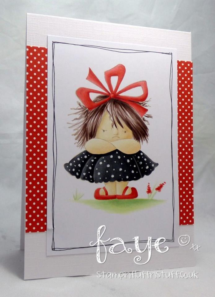 www.stampingbella.com: Rubber stamp used: GRUMPY SQUIDGY card made by FAYE WYNN JONES