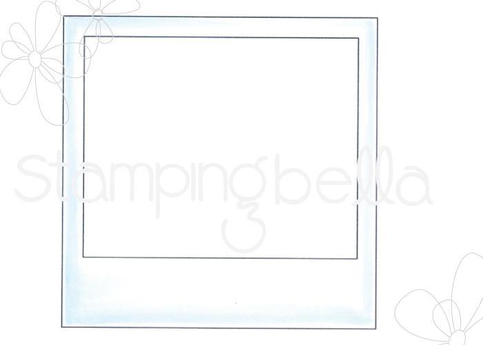 www.stampingbella.com- RUBBER STAMP: POLAROID