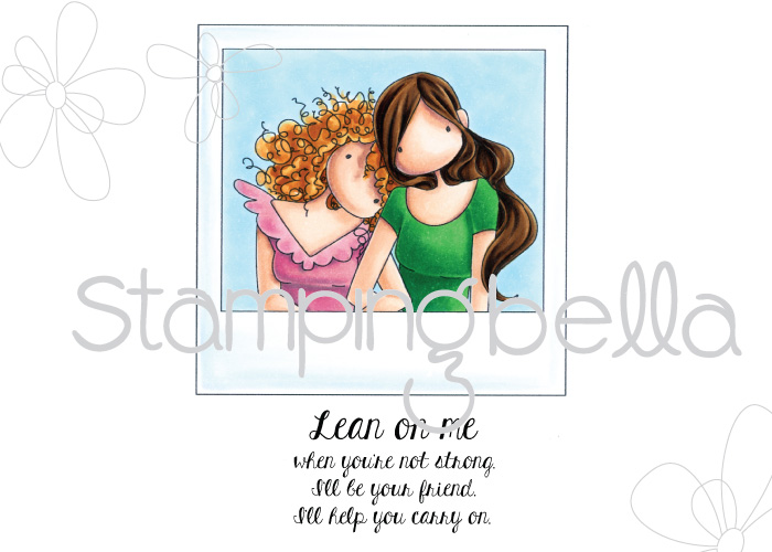 www.stampingbella.com- RUBBER STAMP: SNAPSHOTS LEAN ON ME