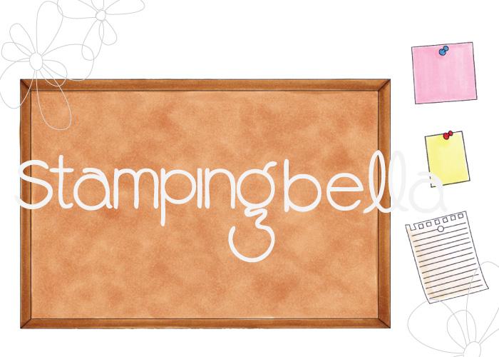 www.stampingbella.com: RUBBER STAMP: CORKBOARD BACKDROP