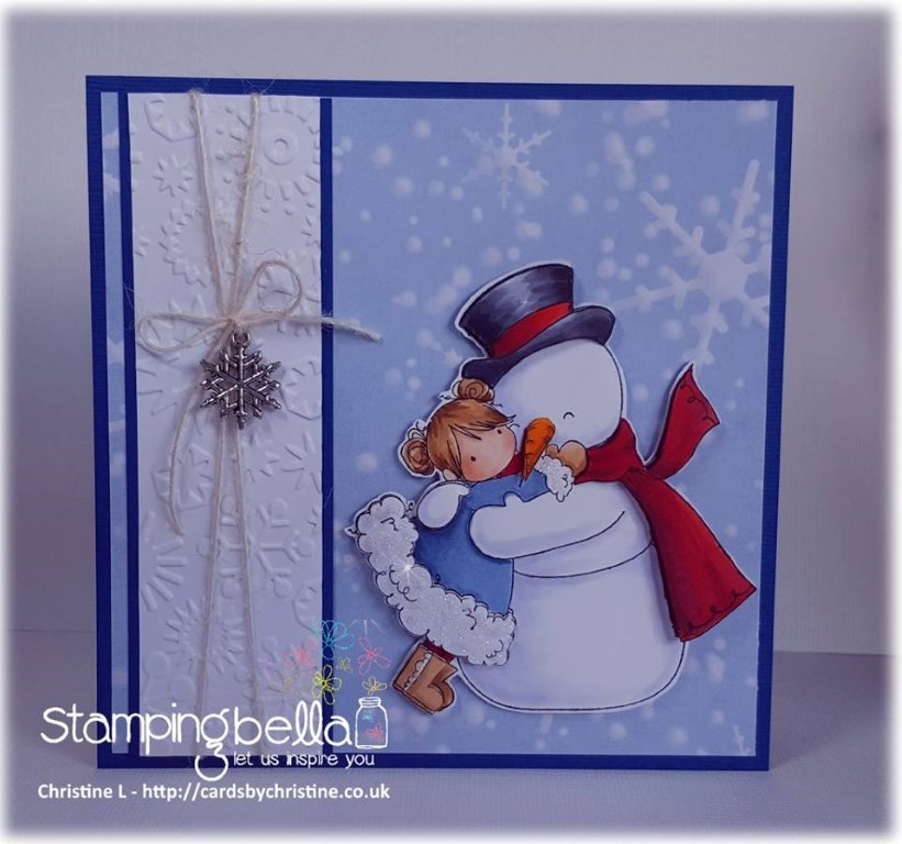 www.stampingbella.com: RUBBER STAMP USED : TINY TOWNIE FRIDAY LOVES FROSTY, card by Christine Levison