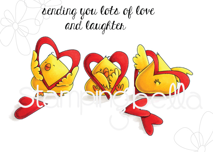 www.stampingbella.com: RUBBER STAMP: HEARTY CHICKS