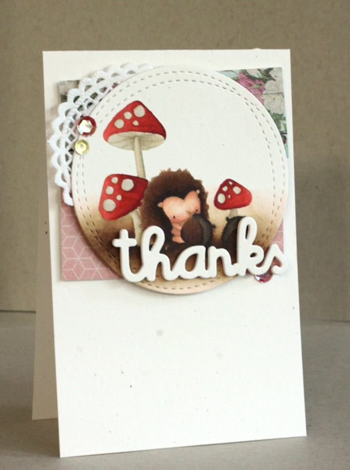 www.stampingbella.com:  rubber stamp used: THE LITTLES HEDGIE and his ACORNS, card made by ALICE WERTZ