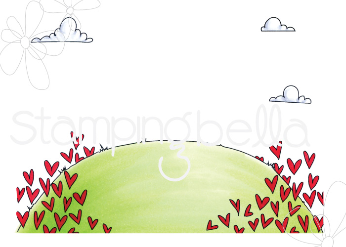 www.stampingbella.com: RUBBER STAMP: LOVE BACKDROP