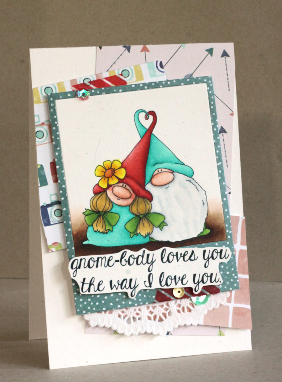 www.stampingbella.com- RUBBER STAMP USED: LOVEY GNOMES, card made by Alice Wertz