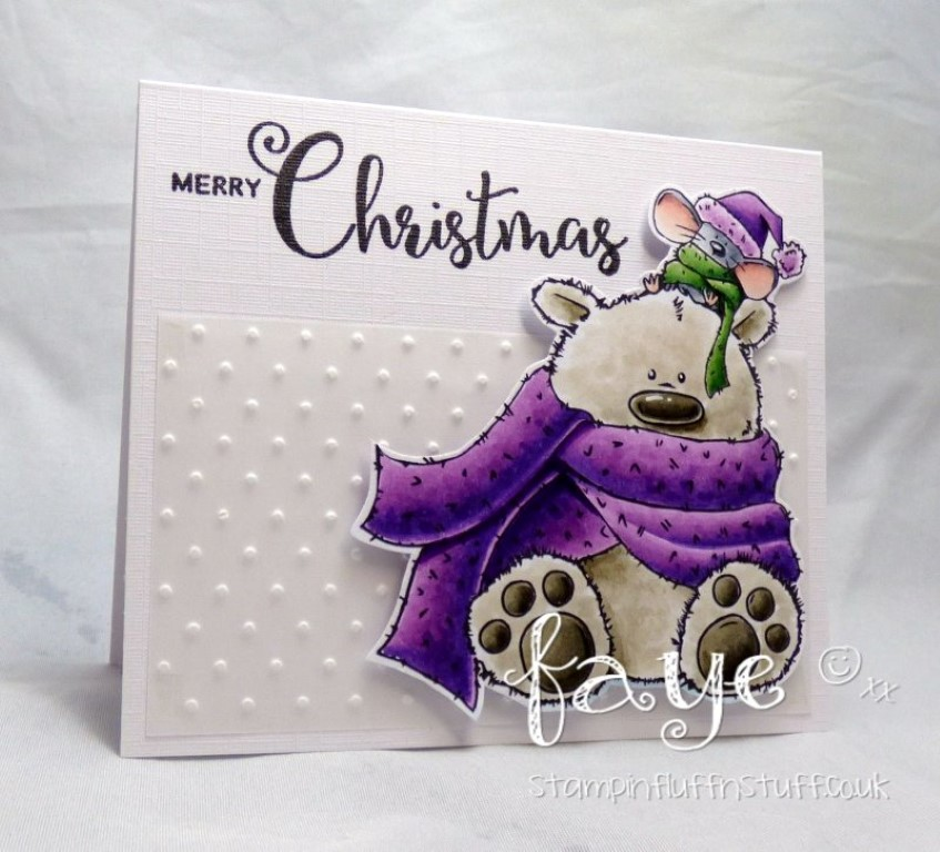www.stampingbella.com: RUBBER STAMP USED : POLAR BEAR AND MOUSIE, card by FAYE WYNN JONES