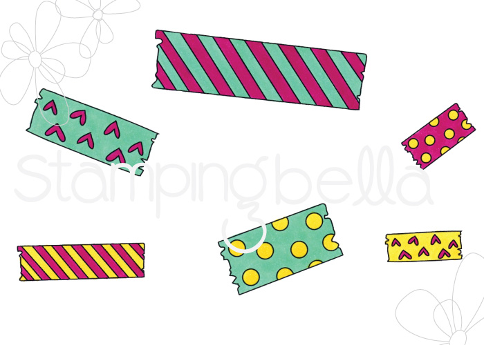 www.stampingbella.com: RUBBER STAMP: WASHI TAPE SET