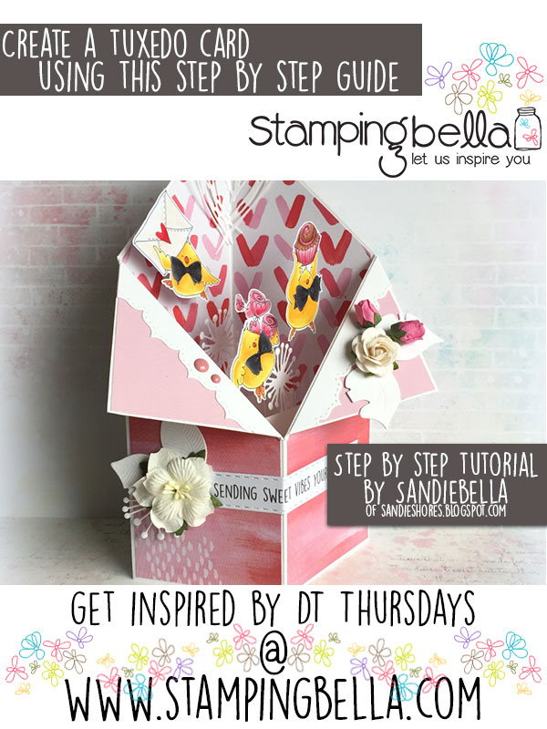 Stamping Bella DT Thursday - Create a Tuxedo Card with Sandiebella