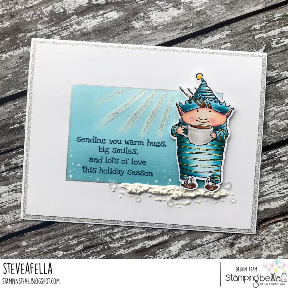 www.stampingbella.com: rubber stamp used: BUIDDY and JOLLY, card by STEPHEN KROPF