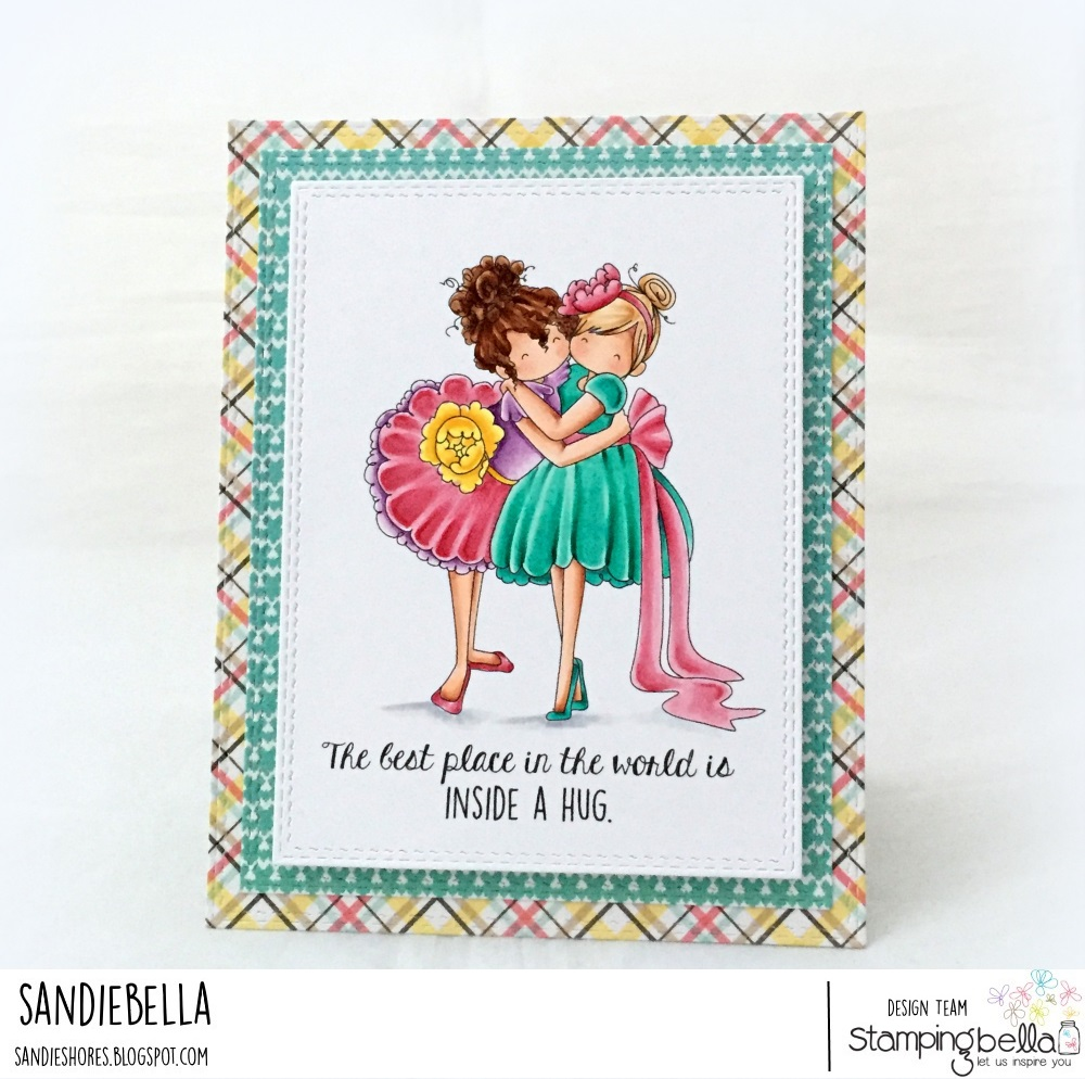 www.stampingbella.com: RUBBER STAMP USED : TINY TOWNIE HUGGY FRIENDS, card made by SANDIE DUNNE