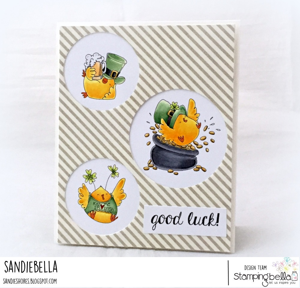 www.stampingbella.com: RUBBER STAMP USED : IRISH CHICKS, card made by Sandiebella