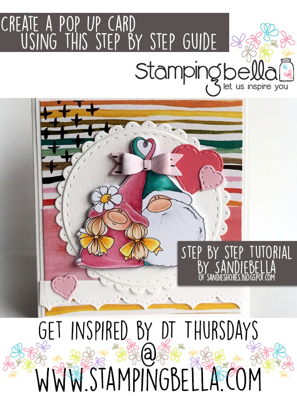 Stamping Bella DT Thursday: Create a Pop Up Card with Sandiebella