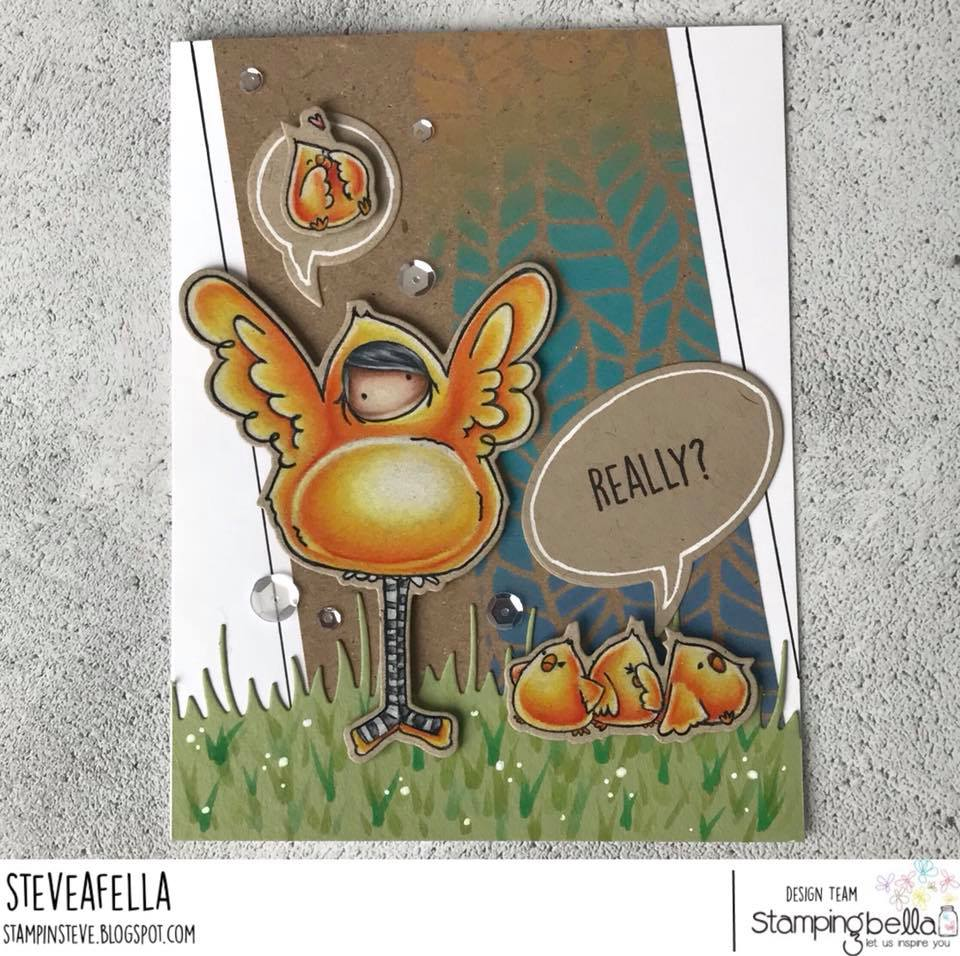 www.stampingbella.com: Rubber stamp used: Tiny Townie PEYTON loves to PRETEND.  Card by Stephen Kropf