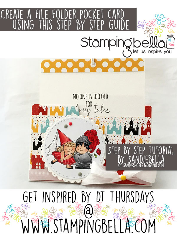 Stamping Bella DT Thursday Create a File Folder Pocket Card with Sandiebella