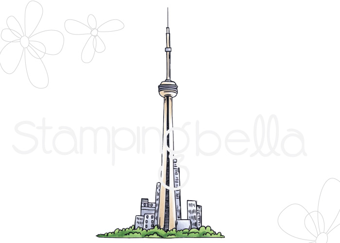 www.stampingbella.com: Rubber stamp: Rosie and Bernie's CN TOWER