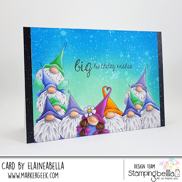 Stamp it Saturday: Masked Gnome Scene Card with Distress Oxide Background & Video
