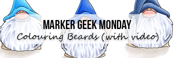 Marker Geek Monday with Stamping Bella: Colouring Gnome Beards (with video)