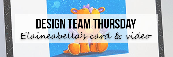 Stamping Bella DT Thursday with Elaineabella - Dragon Encouragement Card using Zig Clean Color Real Brush Pens (with video)