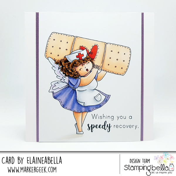 www.stampingbella.com: rubber stamp used: EDNA to the rescue, card by Elaine Hughes
