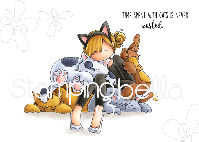 www.stampingbella.com: rubber stamp used : Tiny Townie Courtney loves Kitties
