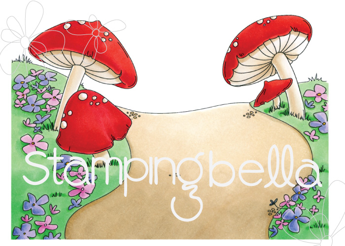 www.stampingbella.com: Rubber stamp: GNOME BACKDROP