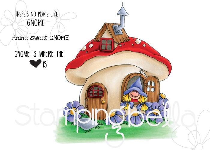 www.stampingbella.com: Rubber stamp: GNOME HOME