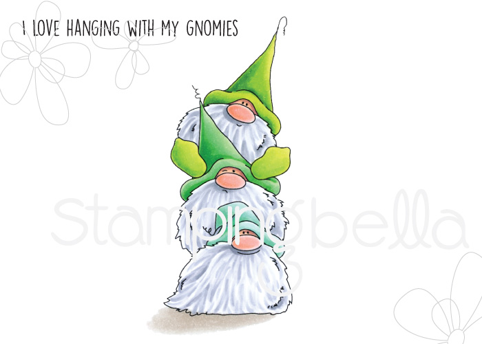www.stampingbella.com: Rubber stamp: Gnome PILE