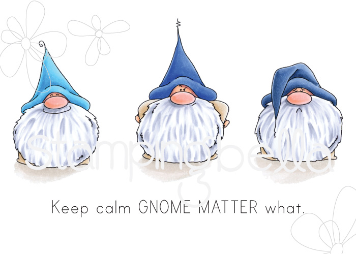 www.stampingbella.com: Rubber stamp: Gnomes have FEELINGS TOO